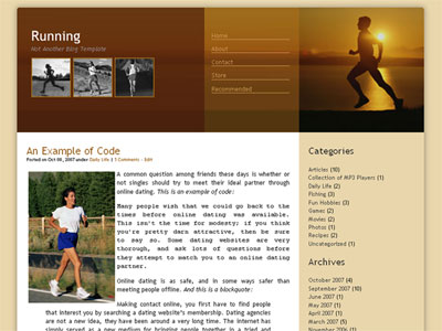 running blog wordpress theme