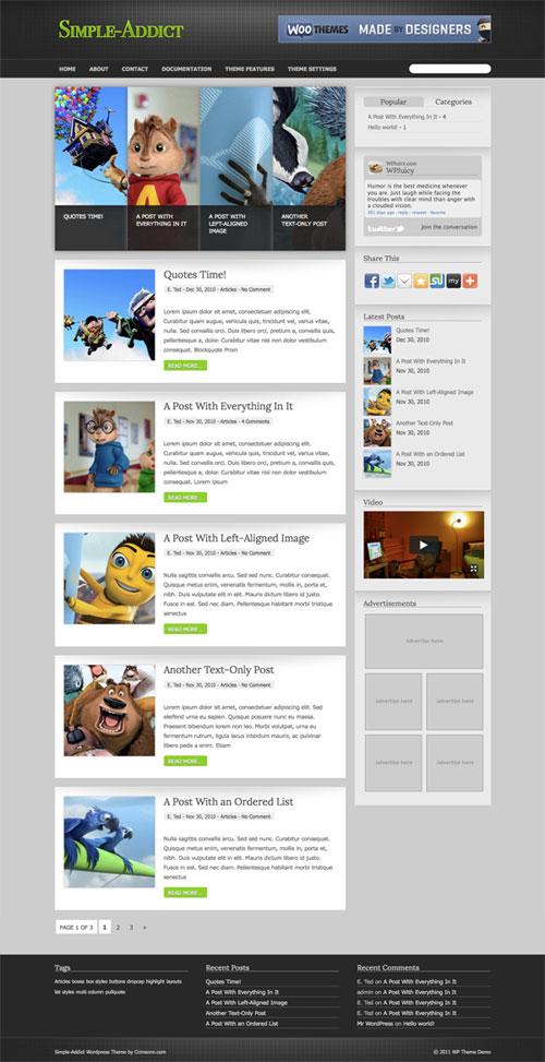 Simple-Addict wordpress theme
