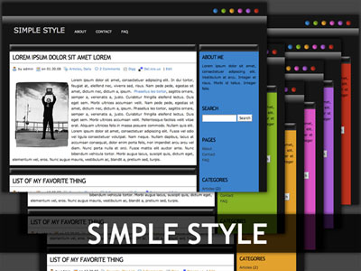 simple style wordpress theme
