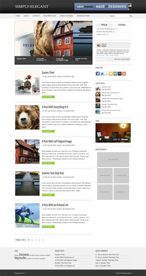 Simply-Elegant wordpress theme
