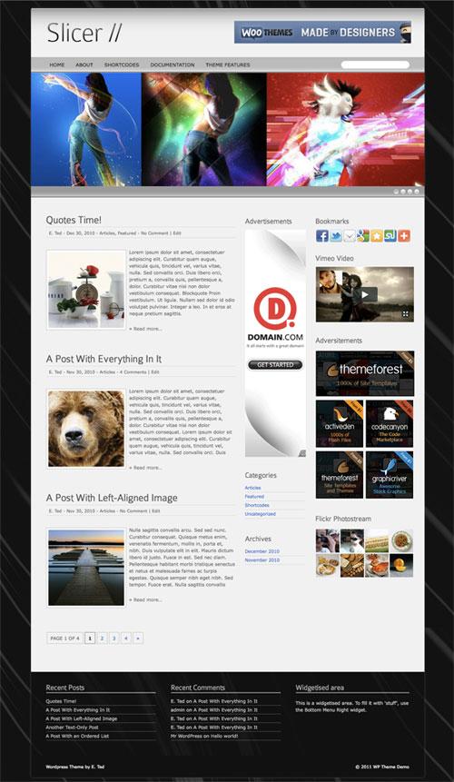 slicer wordpress theme