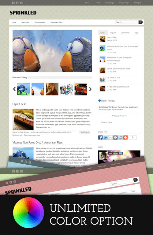 Sprinkled wordpress theme