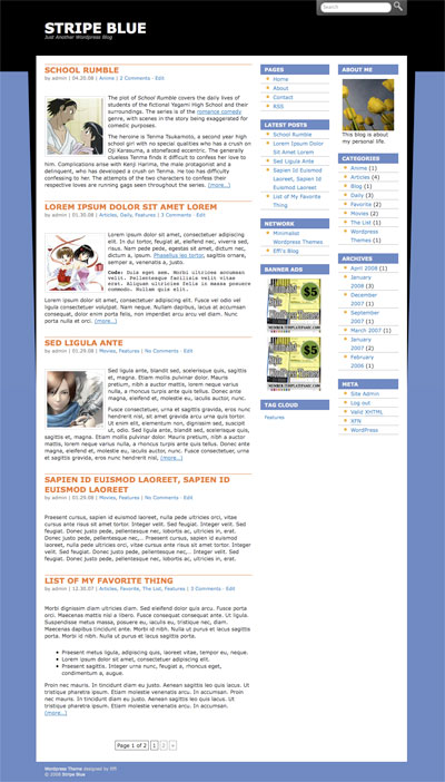 stripe wordpress theme