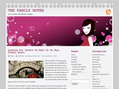 The Family Notes WordPress Theme