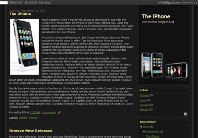the i-phone blogger template