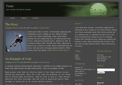 toxic wordpress theme