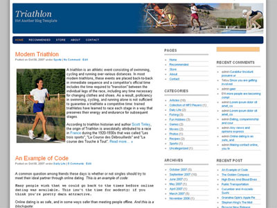 triathlon wordpress theme