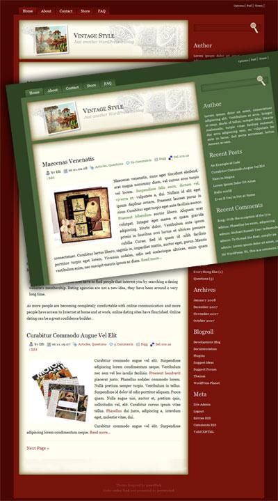 vintage style wordpress theme