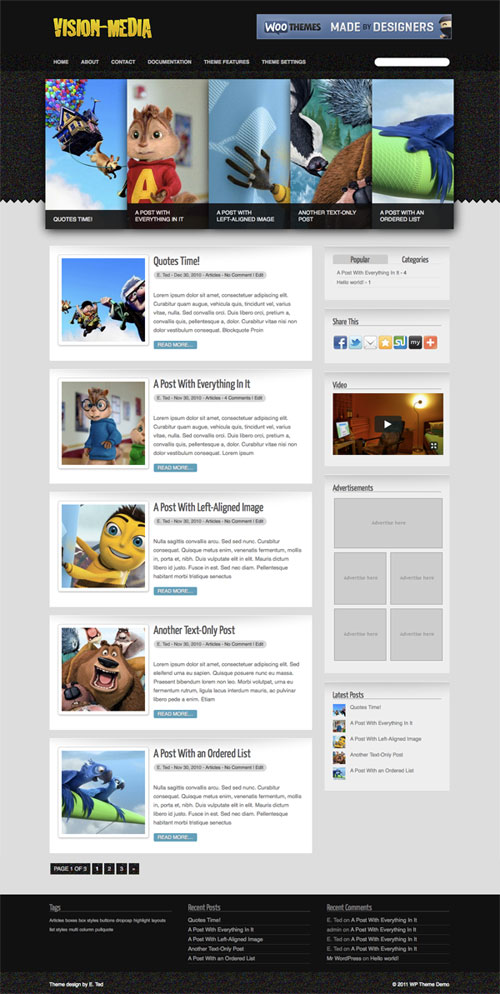 Vision-Media wordpress theme