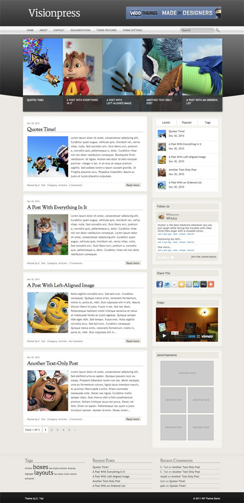 Visionpress wordpress theme