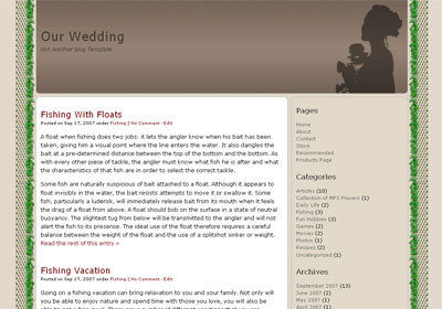 wedding blog wordpress theme