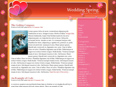 wedding spring wordpress theme