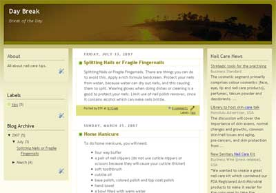 wordpress hosting blogger template