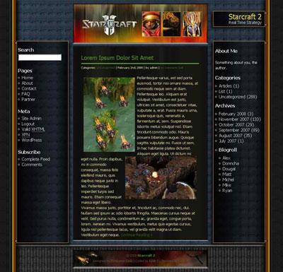 World of Starcraft WordPress Theme