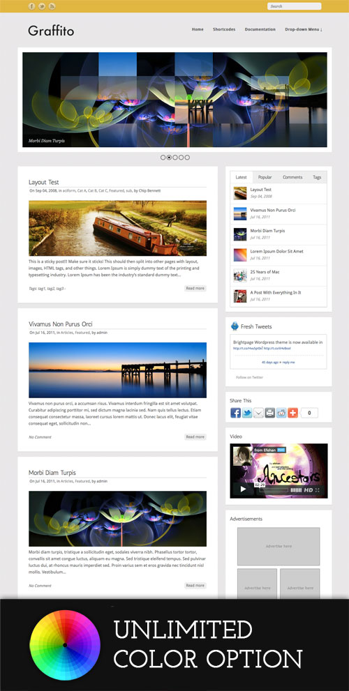 Graffito wordpress theme