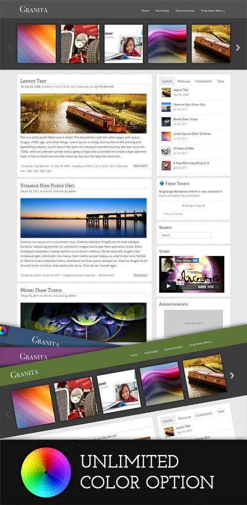 Granita wordpress theme