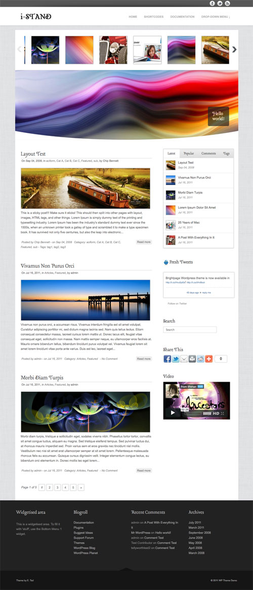 i-Stand wordpress theme