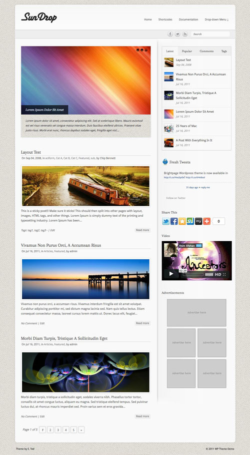 SunDrop wordpress theme
