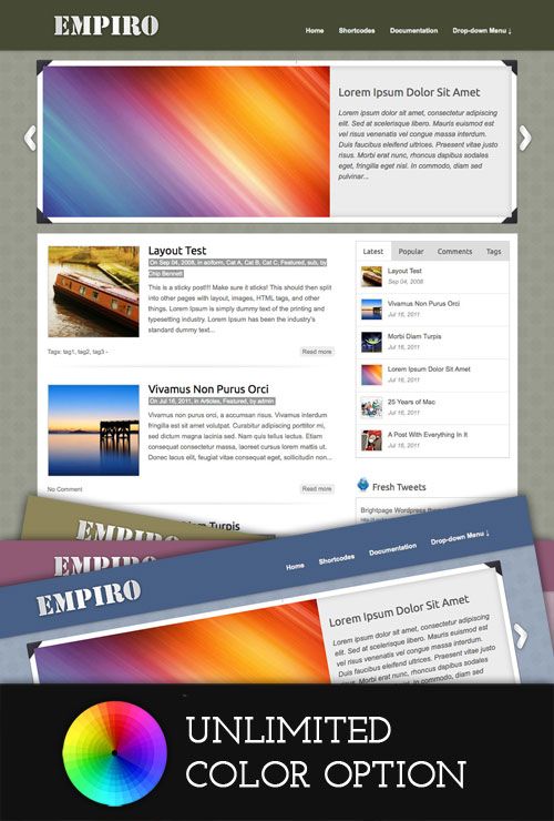 Empiro wordpress theme