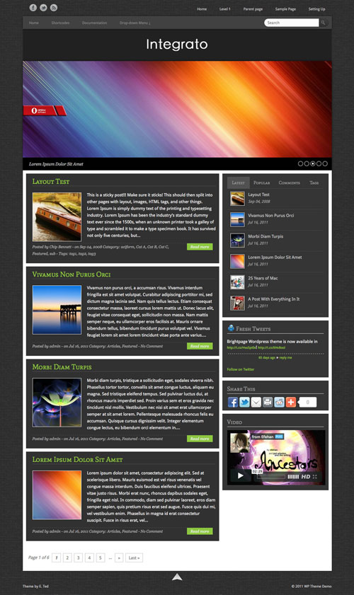 Integrato wordpress theme