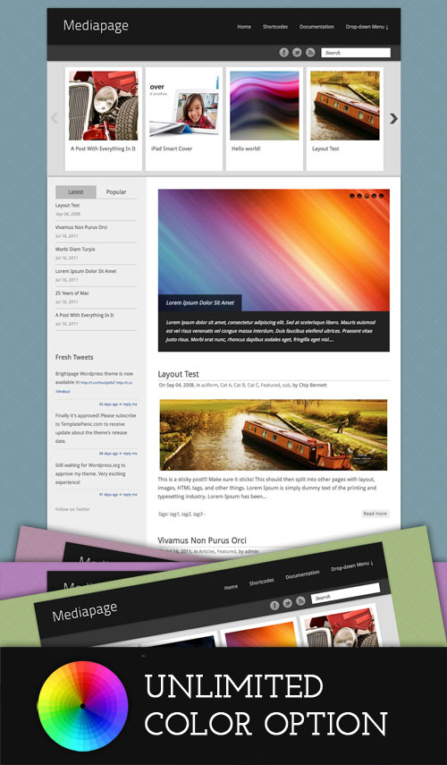 Mediapage wordpress theme