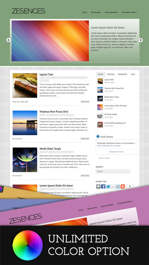 Zesences wordpress theme