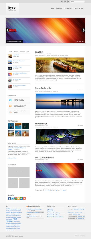Basiic wordpress theme