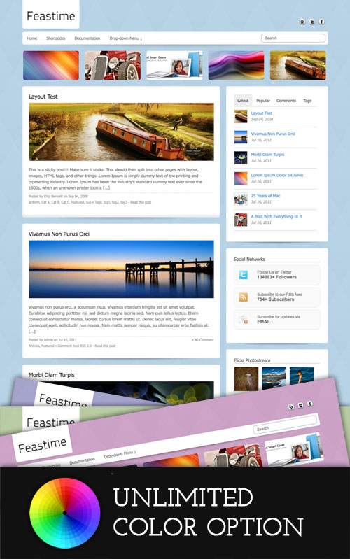 Feastime wordpress theme