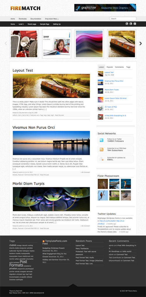 Firematch wordpress theme