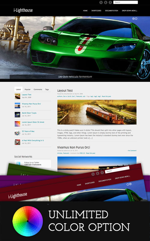 i-Lighthouse wordpress theme