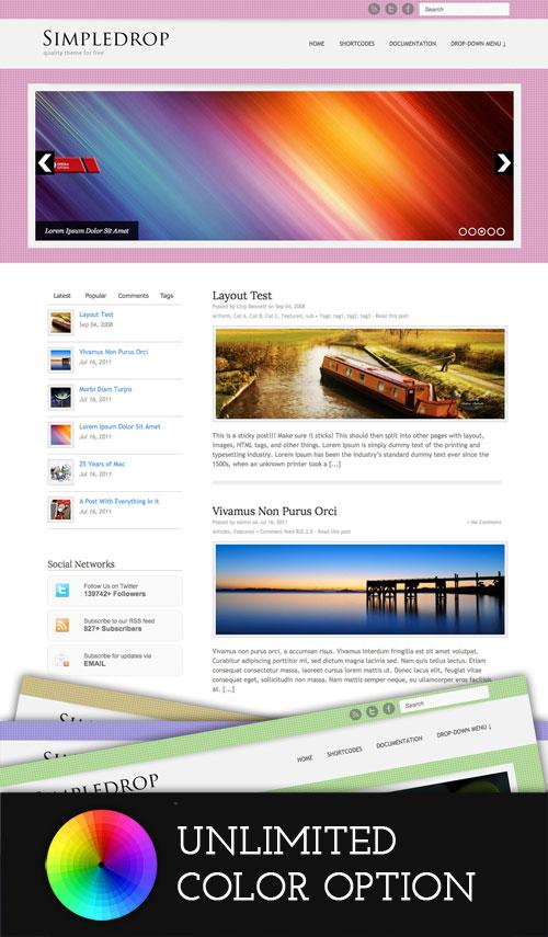Simpledrop wordpress theme