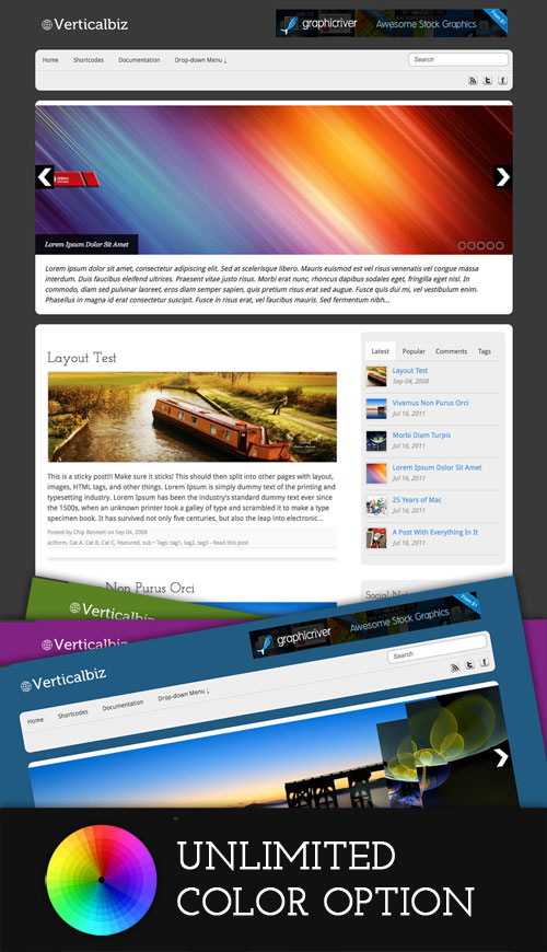 Verticalbiz wordpress theme