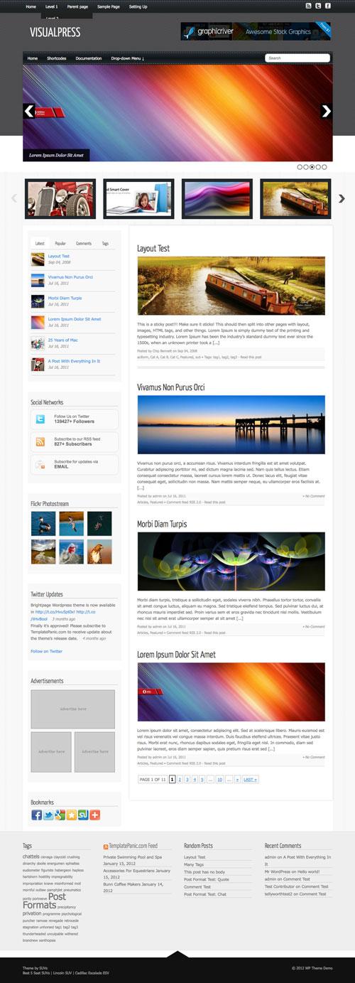 Visualpress wordpress theme