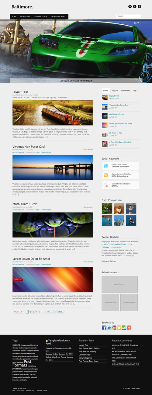 Baltimore wordpress theme