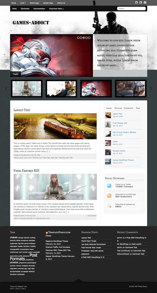 Games-Addict wordpress theme
