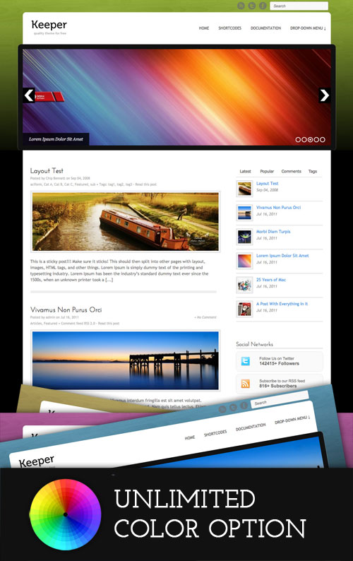 Keeper wordpress theme