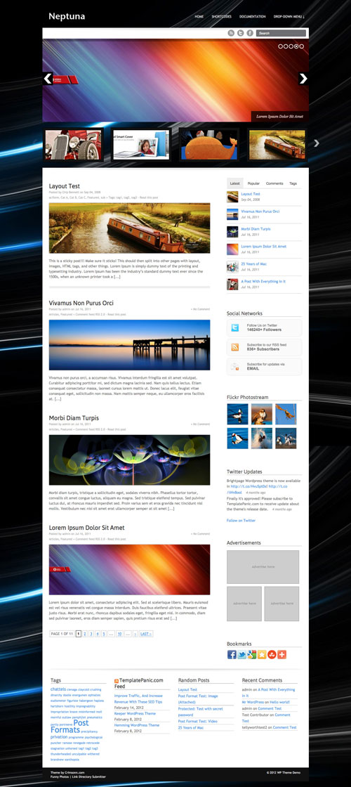 Neptuna wordpress theme