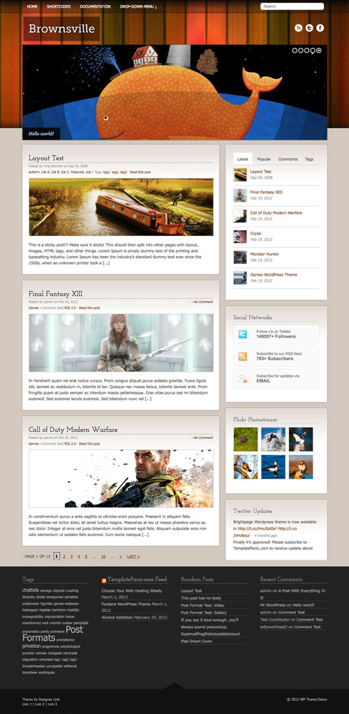 Brownsville wordpress theme
