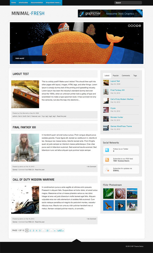 Minimal-Fresh wordpress theme