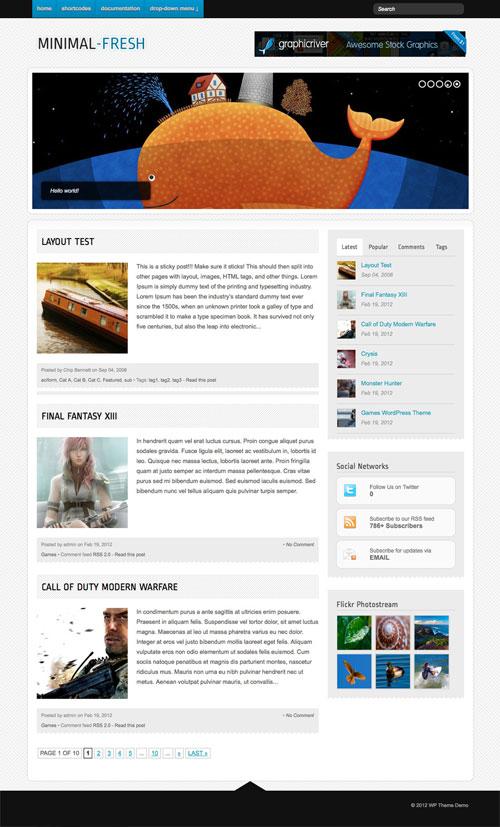 Minimal-Fresh wordpress theme