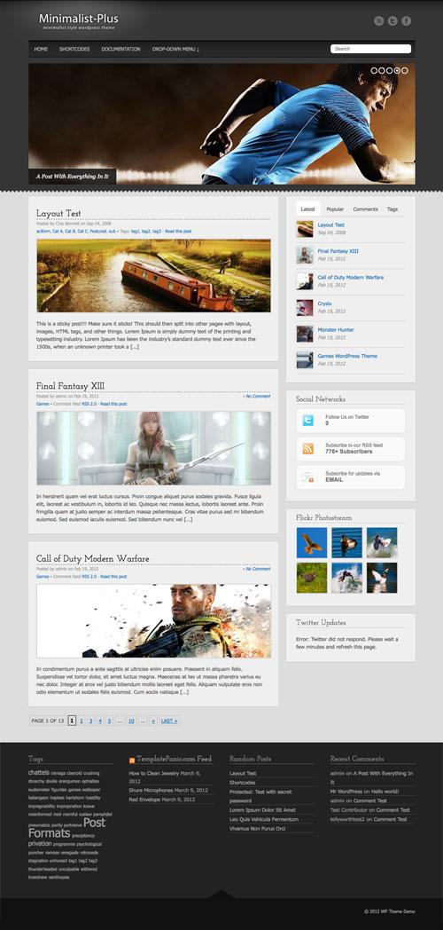 Minimalist-Plus wordpress theme