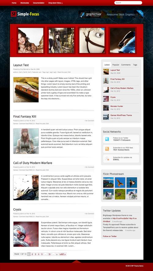 Simple-Focus wordpress theme