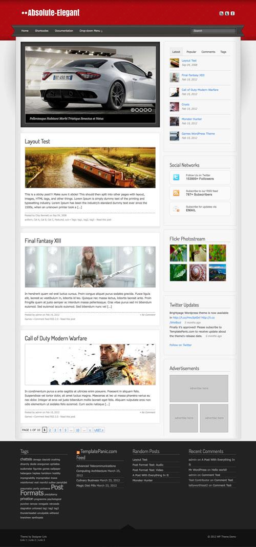 Absolute-Elegant wordpress theme