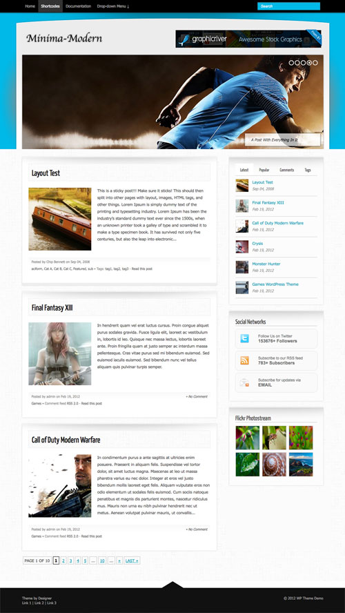 Minima-Modern wordpress theme