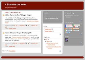 Making 3 Column Blogger Template For Blogger Beta