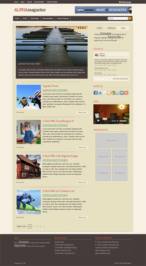Alpha-Magazine WordPress Theme