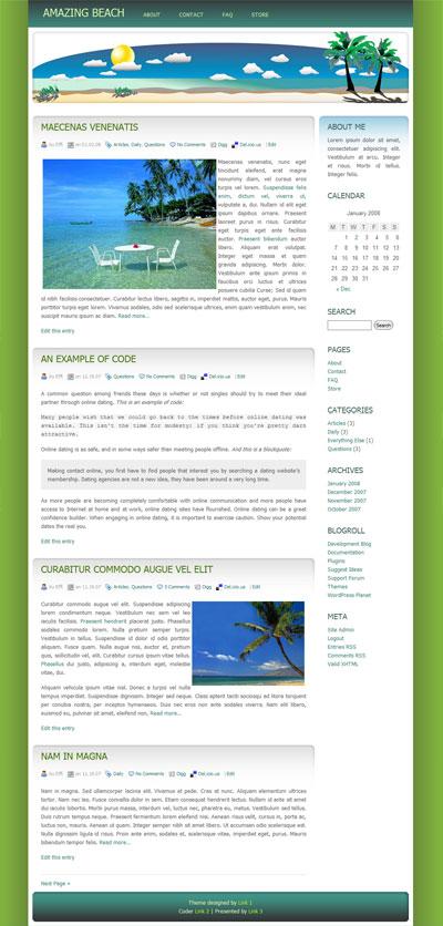 Amazing Beach WordPress Theme