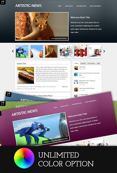 Artistic-News WordPress Theme