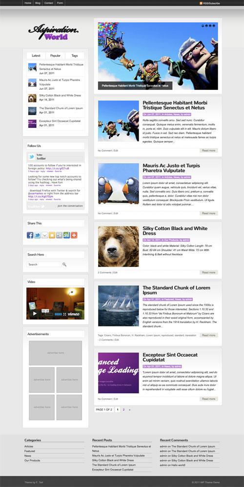 Aspiration-World WordPress Theme