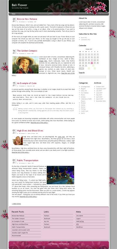 Bali Flower WordPress Theme